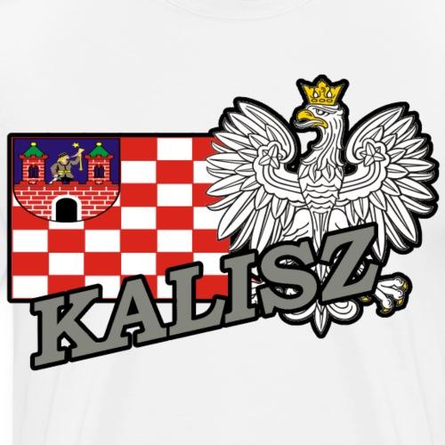 Flaga Kalisza z godłem Polski Kalisz - Koszulka męska Premium
