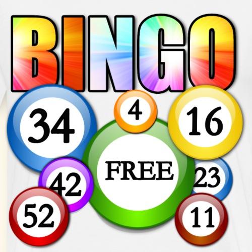 Bingo Numbers lucky fun - Men's Premium T-Shirt