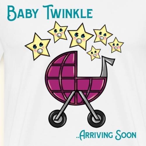 Baby Shower Baby Twinkle Arriving Soon - Men's Premium T-Shirt