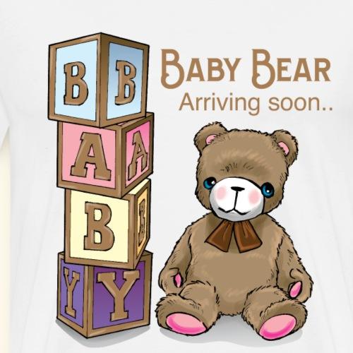 Baby Shower Baby Bear arriving soon - Men's Premium T-Shirt