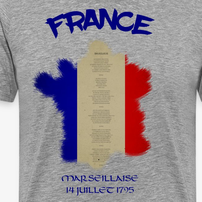 France Marseillaise mit Flagge