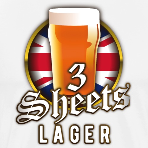 Beer Shirt Design 3 Sheets Lager - Männer Premium T-Shirt