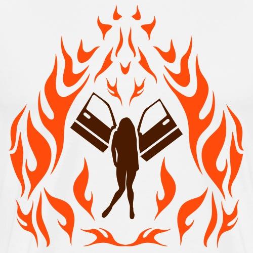 Engel / Flammen - Männer Premium T-Shirt