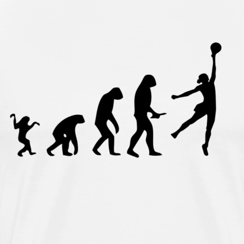 Evolution of Human to Volleyballer - Männer Premium T-Shirt