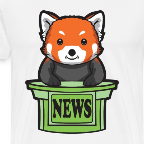 Red Panda News Presenter - Men's Premium T-Shirt