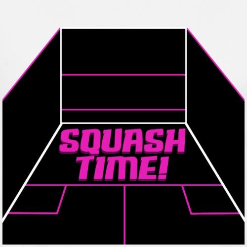 Squash Time Squash Spielfeld Design - Männer Premium T-Shirt