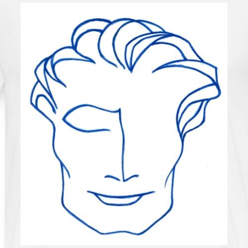 Mr solaire bleu - T-shirt Premium Homme