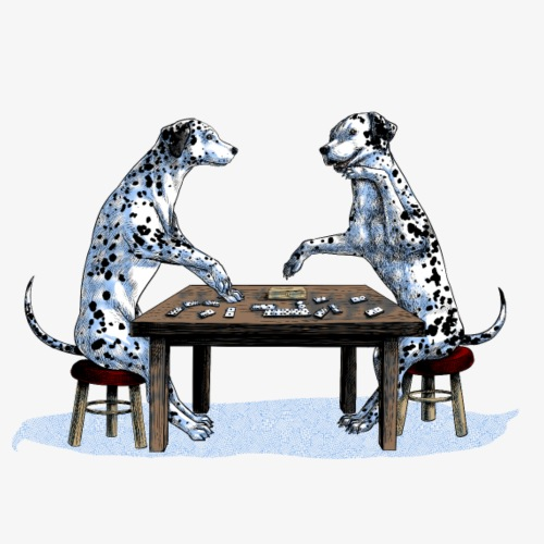 Dalmatians domino - Men's Premium T-Shirt