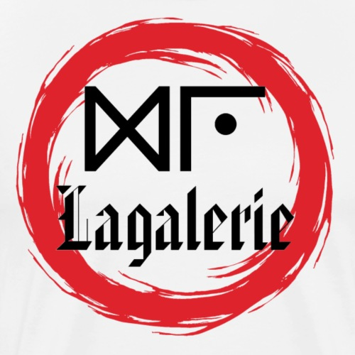 Logo Officiel Gu Lagalerie Noir - T-shirt Premium Homme