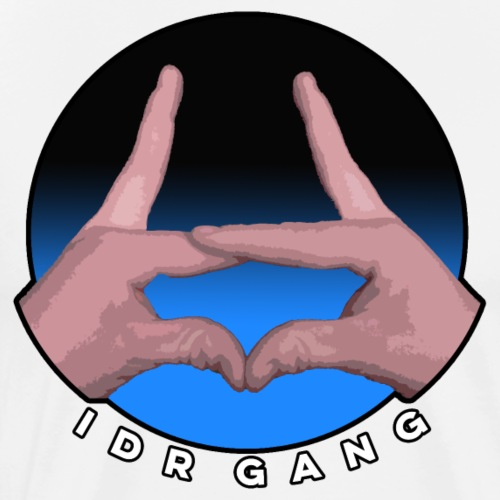IDR Gang hand sign (Blue) - Men's Premium T-Shirt
