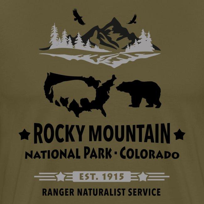 Rocky Mountain Nationalpark Berg Bison Grizzly Bär