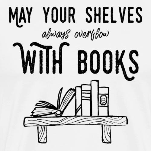 0036 bookshelf | Stack of books | Book | Read - Men's Premium T-Shirt
