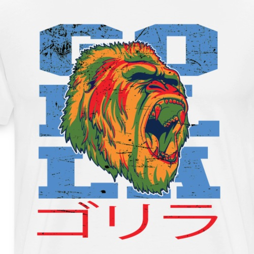 Japan Gorilla - T-shirt Premium Homme