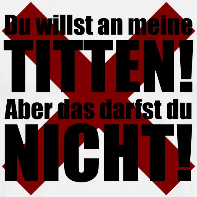 Titten Verbot Witz Typografie
