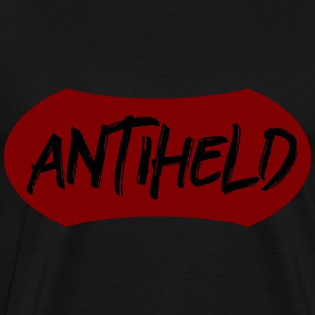 Antiheld Wappen Typografie