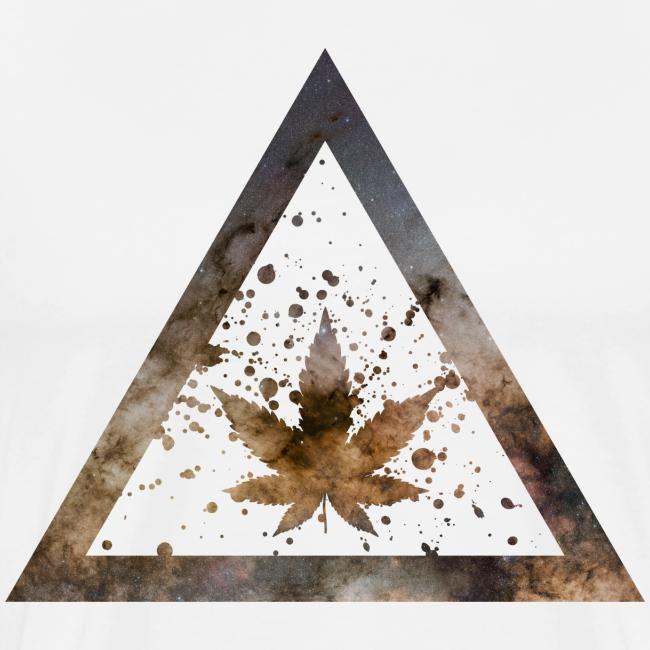 Galaxy Weed Marijuana Triangle with Splashes