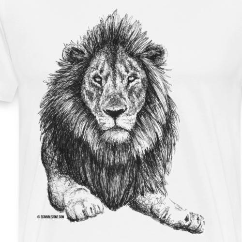 Scribbled Lion - Männer Premium T-Shirt