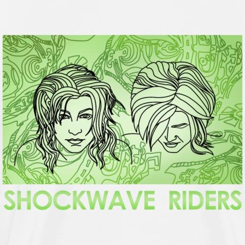 Shockwave Riders Faces green - Männer Premium T-Shirt