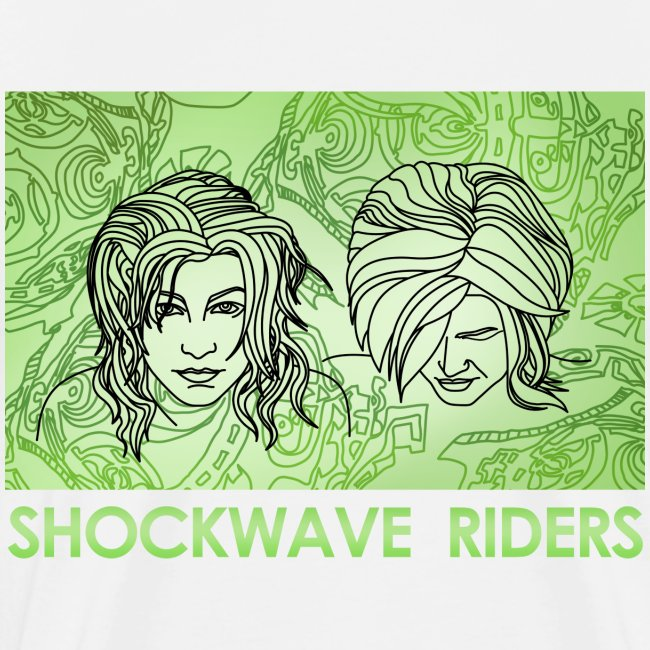 Shockwave Riders Faces green