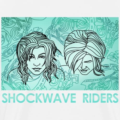 Shockwave Riders Faces again - Männer Premium T-Shirt