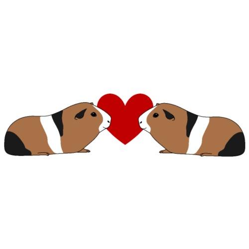 Meerschweinchenliebe Meerschweinchen Herz Liebe - Männer Premium T-Shirt
