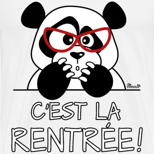 Panda C'est la Rentrée! - T-shirt Premium Homme