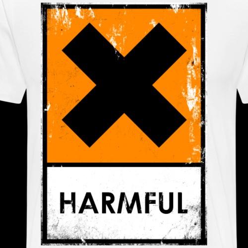 Punk. Peligro químico. Nocivo o irritante - Camiseta premium hombre