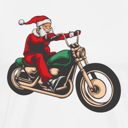 Cool Christmas Santa Motor Biker
