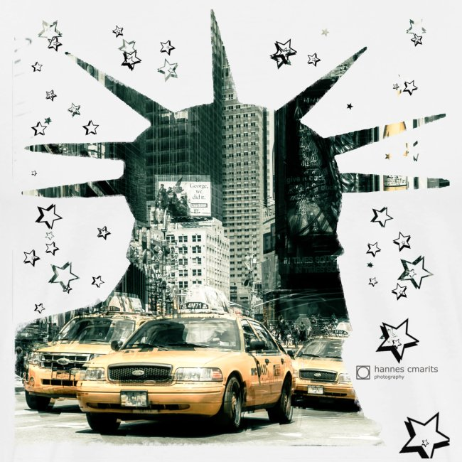 NYC - Lady liberty and the yellow cabs