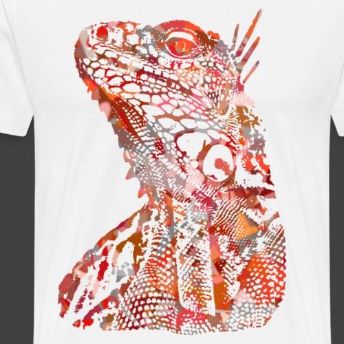 LIZARD1 - RED - Men's Premium T-Shirt