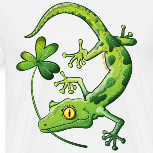 Saint Patrick's Day Gecko - Men's Premium T-Shirt