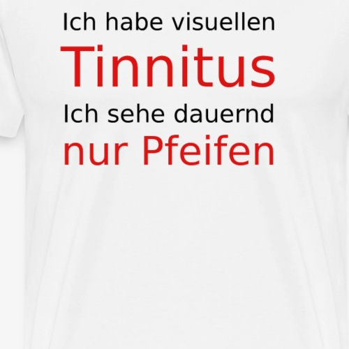 visuellen Tinnitus - Männer Premium T-Shirt