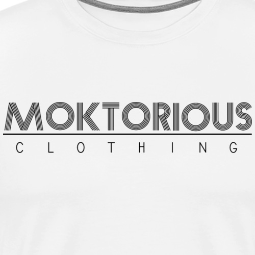 MOKTORIOUS CLOTHING - BLACK - VERTICAL - Männer Premium T-Shirt