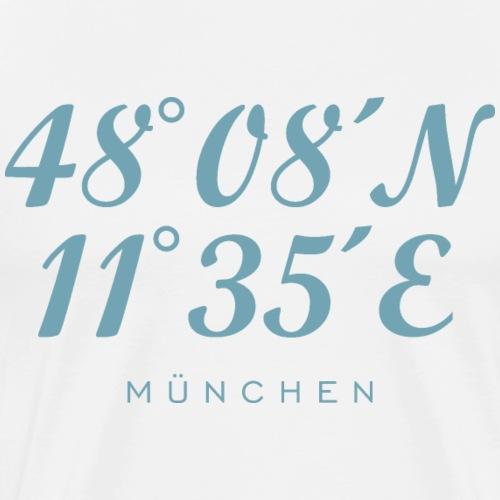 Münchener Koordinaten München (Hellblau) - Männer Premium T-Shirt