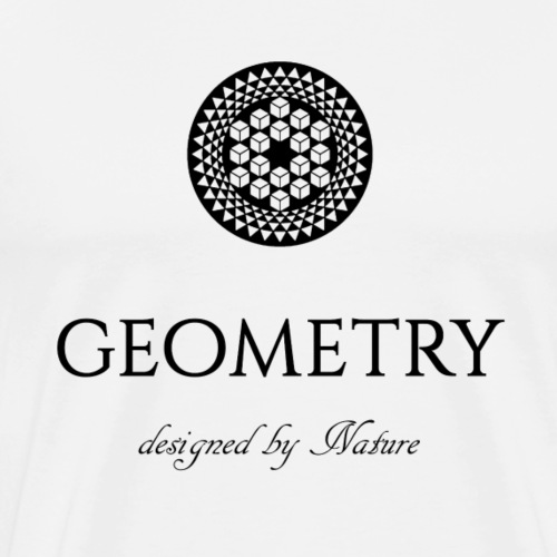Metatron's cube crop circle - Premium T-skjorte for menn