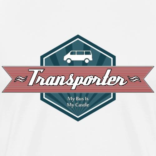 Transporter Retro (Red) - Männer Premium T-Shirt