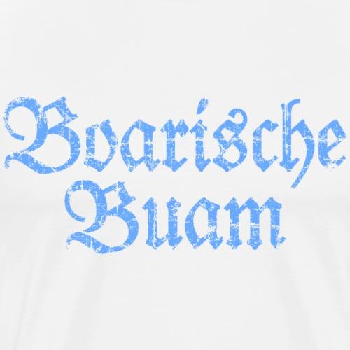 Boarische Buam Männer aus Bayern (Vintage Blau) - Männer Premium T-Shirt