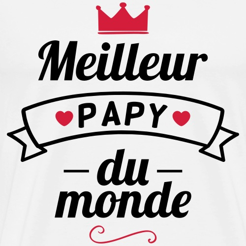meilleure papy du monde - T-shirt Premium Homme