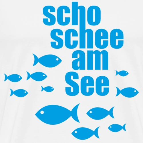 scho schee am See Fische - Männer Premium T-Shirt