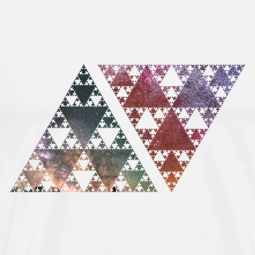 strartrails x points and edges - dreieckige sterne - Männer Premium T-Shirt