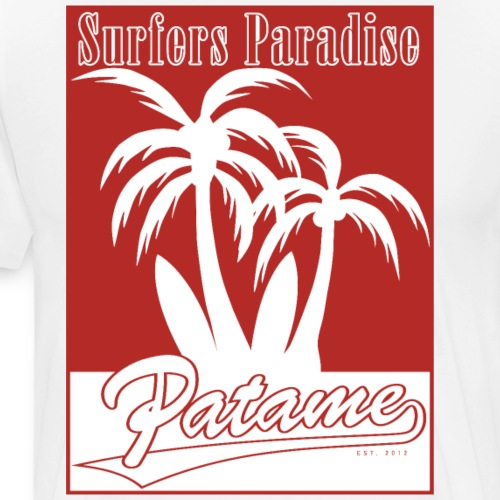 Patame Surfers Paradise Red - Männer Premium T-Shirt