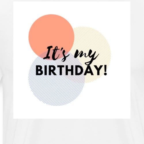 It's my birthday retro pastel circles - Men's Premium T-Shirt