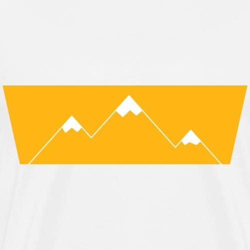 Retro Berge Print Design - Männer Premium T-Shirt