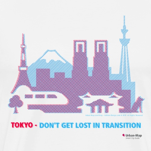 Tokyo - Do not get lost in transition - Men's Premium T-Shirt