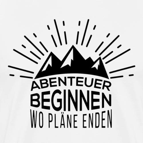 Abenteuer beginnen, wo Pläne enden - by Life to go - Männer Premium T-Shirt