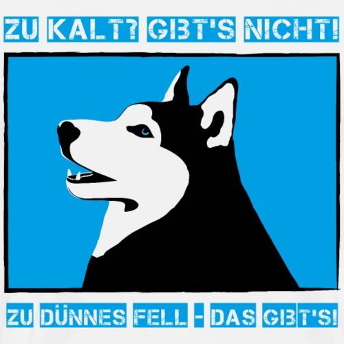 Husky hat dickes Fell Schlittenhund mag Winter - Männer Premium T-Shirt