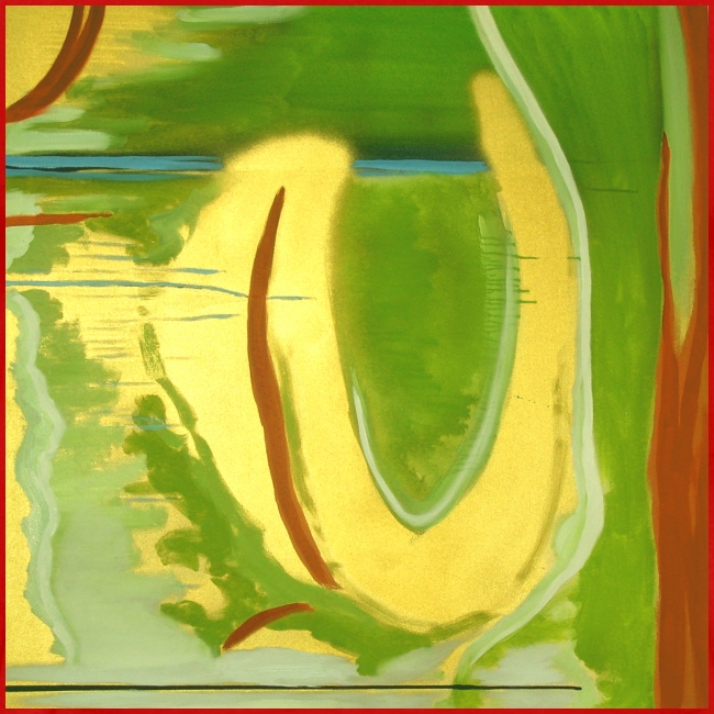 Abstract Green Gold Red