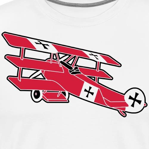 Fokker Roter Baron Red Air Combat First World War - Männer Premium T-Shirt