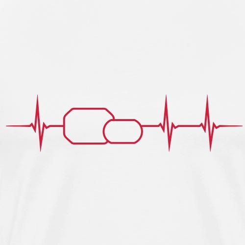 Herzschlag Scheinwerfer - Männer Premium T-Shirt