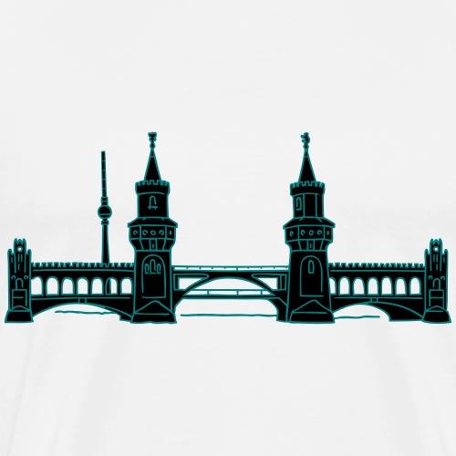 Puente de Oberbaum en Berlín 2 - Maglietta Premium da uomo